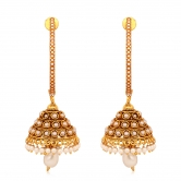 Inaya Multi-coloured Crystal And Gold Chain Earring