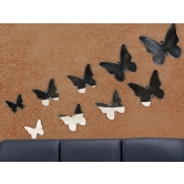 Lovely Butterfly Decorative Shatterproof Dining Kitchen Bathroom Wall Mirror