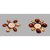 Indigo Creatives Floral 2 Tea Light Stand Rakhi Diwali Christmas Gift
