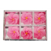 Classy Floral Floating 6 Nos Wax Floating Candle Rakhi Diwali Christmas Gift Set