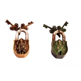 Vastu Antique Look Lord Ganesha Set Of 2 Locks Rakhi Diwali Christmas Gift