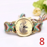 Z13 New Fashion Women Braided Rope Bracelet Wristwatch Relogio Feminino Bohemian Style Quartz Watch Dress Watches