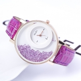 Fancy  Ledher Belt Ladies Watch Jm85
