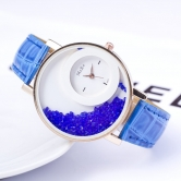 Fancy  Ledher Belt Ladies Watch Jm84