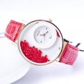 Fancy  Ledher Belt Ladies Watch Jm82