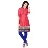 Khoobee Presents Cotton Printed Stitched Kurti (red) - Ktmgvs1189