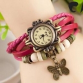 Pink Vintage Leather Watch