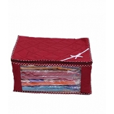 Kuber Industries Saree Cover / Wardrobe Organiser / Regular Cloth Bag 2 Pcs Combo In Heavy Quilted Material