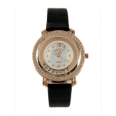 New Moving Diamond Analogue Leather Strap Watch - For Women