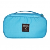 Multi-functional Travel Organizer Cosmetic Make-up Bag Portable Luggage Storage Pouch Light Blue-pu25118