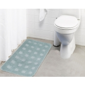 Lushomes Ultra Soft Microfiber Polyester Warm Silver Large Bath Mat  - Pombmr1016