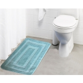 Lushomes Ultra Soft Microfiber Polyester Warm Silver Large Bath Mat  - Pombmr1014
