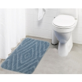Lushomes Ultra Soft Microfiber Polyester Silver Regular Bath Mat  - Pombms1024