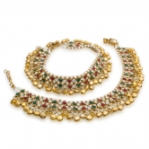 Craftsvilla Multi-coloured Anklet With Metal Work
