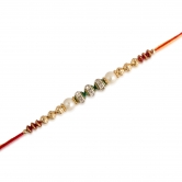 Red And Green Beads Rakhi Acc6033