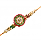 Green And Red Rakhi  Acc6035
