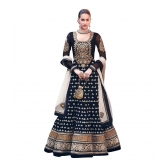 Diwali Black Georgette Long Anarkali Dress