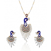 Mgold Peacock Pendant Set With Free Chain