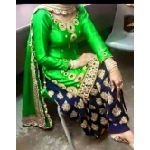 Green Embroidered Patiala Green Suit