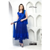 Fancy Look Semi Stitched  Salwar Suit By Mk13-blue