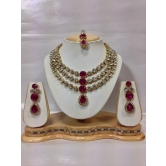 Famous Kundan Jewelry Set In Pink