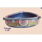 Earthen Decorative Bowls -triangle Shape -  Redefining Tradition - 195rp   - Online Shopping For Diyas And Lights By Muhenera - Online Shopping For Diyas And Lights By Muhenera - Online Shopping For Diyas And Lights By Muhenera