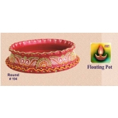 Earthen Decorative Bowls -round Shape -  Redefining Tradition - 194rp   - Online Shopping For Diyas And Lights By Muhenera - Online Shopping For Diyas And Lights By Muhenera
