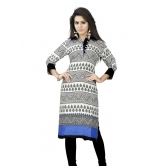 Muhenera Party Wear 3/4 Sleeve Printed Cotton Women's Kurti 299dt