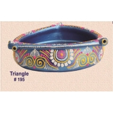 Hand Painted Urli. Earthen Ware. Rp 195 - Blue A Muhenera Collection