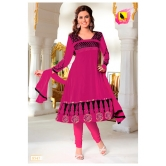 Semi Stitched - 3 Piece Dress Material. In Georgette Material. A Muhenera Collection.8547