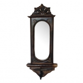Wooden Big Candle Stand For Wall Mirror Antique Style Handicrafts Size(lxbxh-7.5x4x17) Inch    Afr1107