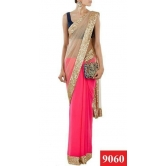 Manish Malhotra's Designer Pink And Beige  Saree Collection