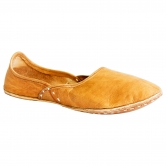Beige Leather Mojari