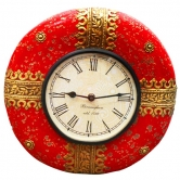 Purpledip Handpainted Vintage Wall Clock For Living Room 12x12 Inch (clock90a)