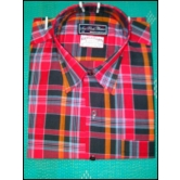 Home  Devider  Organic Cotton Customized Half Sleeved Formal Shirt In Bold Checks