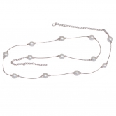 Pearl Silver Belly Chain