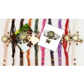Festival Offer Combo Of Two Casual Analog Leather Women Wrist Watch (brown & White)