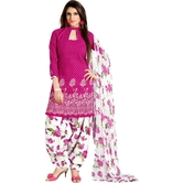 Vg Creation Exclusive Cotton Pink Dress Material