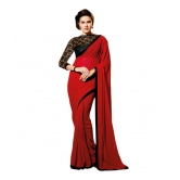 Bollywood Designer Red Georgette Saree
