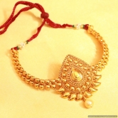 Antique Gold Look Paisley Bajuband