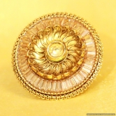 Antique Gold Look Party Wear Adjustable Ring