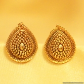 Pear Shaped Gold Look Studs