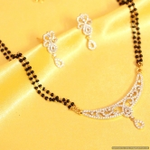 Real Diamond Look Fine Finishing Mangalsutra