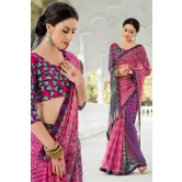Magenta Georgette Saree With Blouse