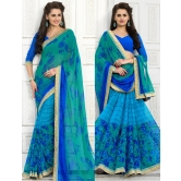 Blue Georgette Saree With Blouse