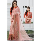 Peach Georgette Saree With Blouse