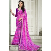 Fuchsia Georgette Saree With Blouse