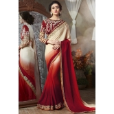 Multicolor Jacquard Wedding Saree With Blouse