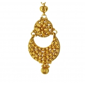 Antique Design  Gold Plated  & Traditional Maang Tikka For Indian Women Jewellery