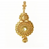 Antique Design  Gold Plated  With  Beautiful White Stone  & Traditional Maang Tikka For Indian Women Jewellery